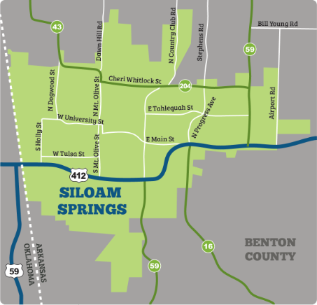 Interstate 69 Arkansas Map.Siloam Springs Arkansas Data Maps Transportation